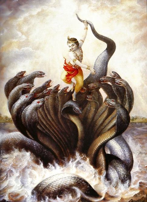 Krishna Conquers the Serpent Kaliya