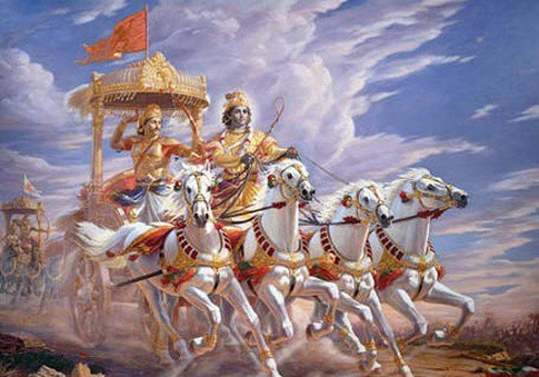 Krishna as saarthi in mahabharata