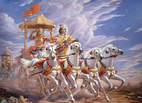 Krishna as saarthi in mahabharata