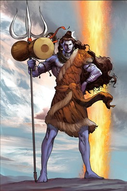 Origin of Shiv shown in a graphic novel