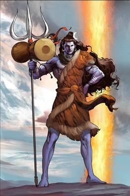 Origin of Shiv shown in a graphic novel