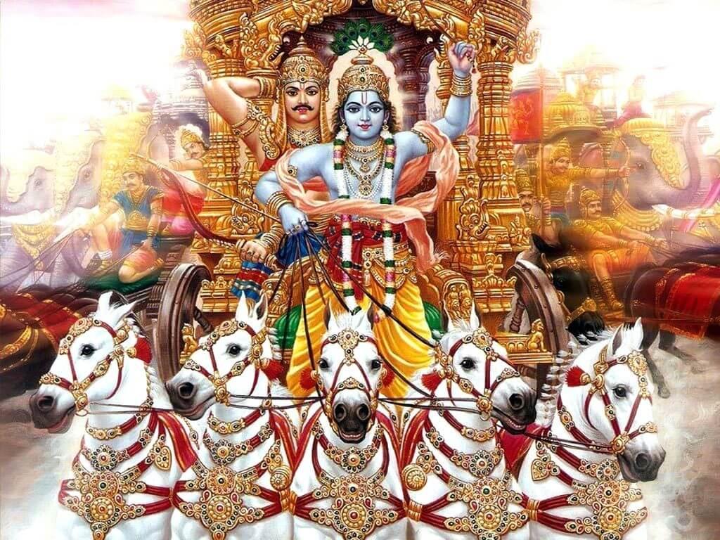 Krishna as charioteer of Arjuna