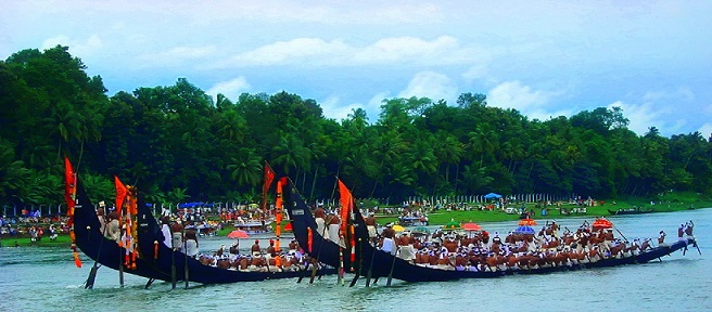 Vallam Kali, a Boat race held in kreala during Onam