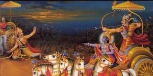 Arjuna killing Karna