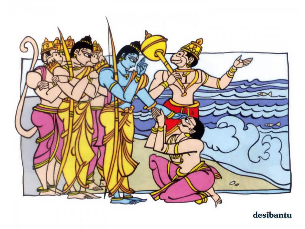 vibhishana joining Rama's Army | Hindu FAQs