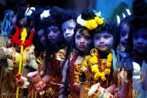Kids dressed as Shiva on Maha Shivratri