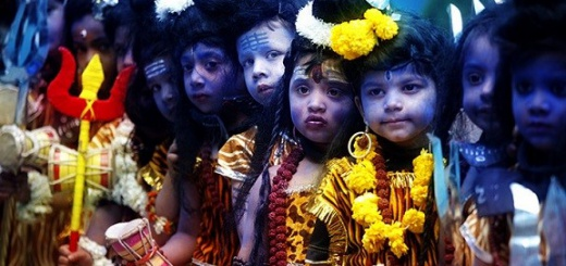 Kids dressed as Shiva on Maha Shivratri