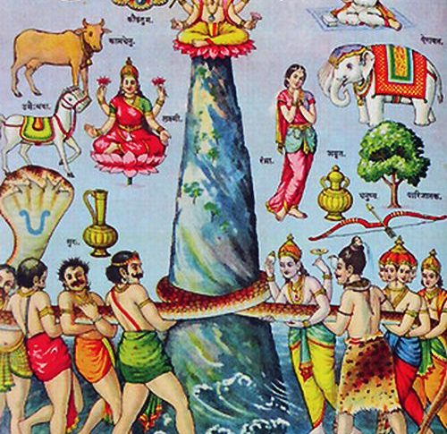 churning of ocean of milk, Samudra manthan | Hindu FAQs