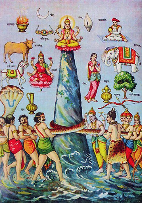 churning of ocean of milk, Samudra manthan | Hindu FAQs
