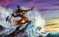 Parshurama Beating back the Arabian Sea | Hindu Faqs