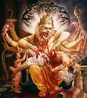 Narsingha Killing Hiranyakashipu | Hindu FAQs
