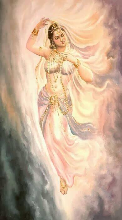 Svarga, स्वर्ग और अमरावती में आकाशीय अप्सराएँ