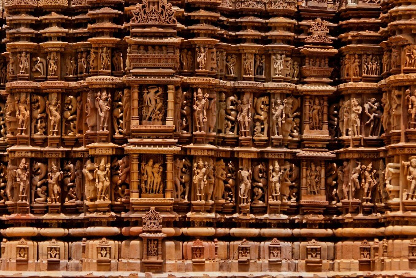 Khajuraho Temple's erotic sculptures and Beautiful carvings
