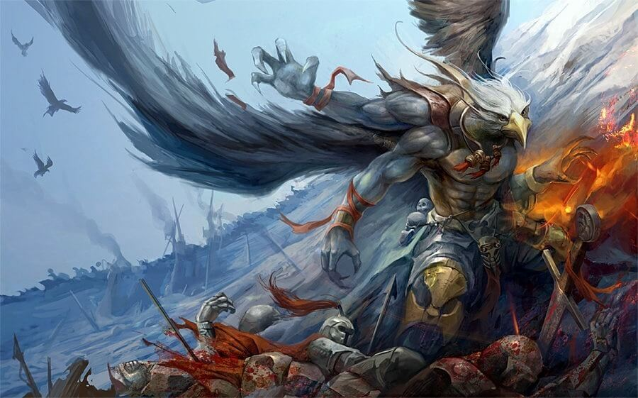 Garuda and Horus