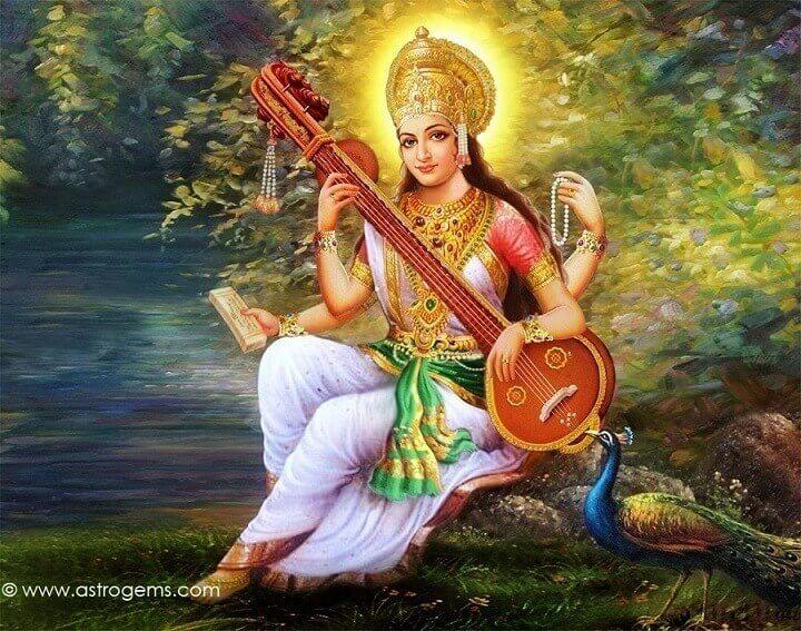 Saraswati is the Hindu goddess of knowledge