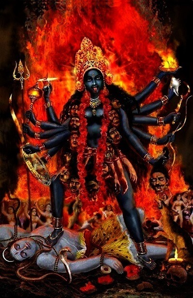 Kali is the Hindu goddess associated with empowerment