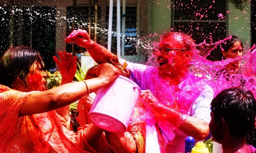 Playing Colurs on holi