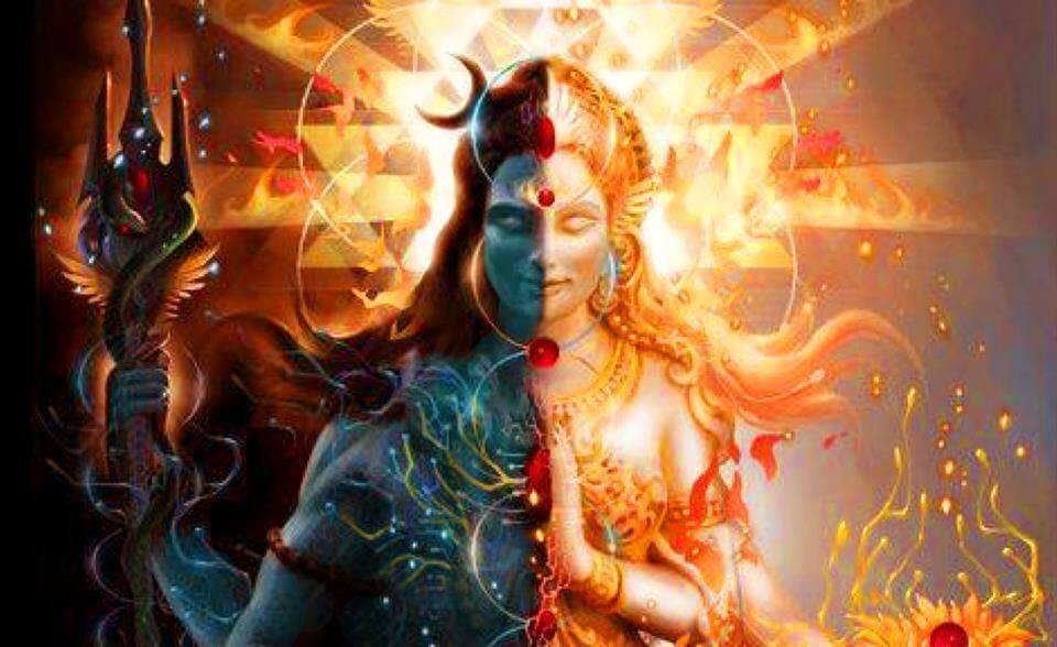 Shiva and Parvati as Ardhanarisvara