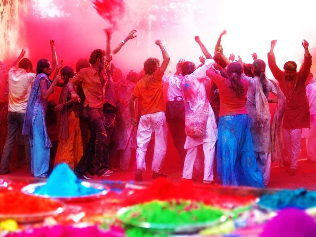 colours in Holi