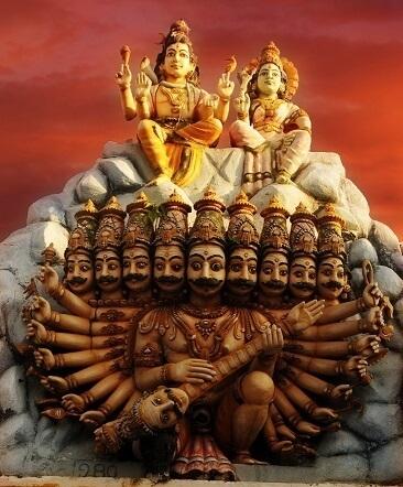Shiva and ravana