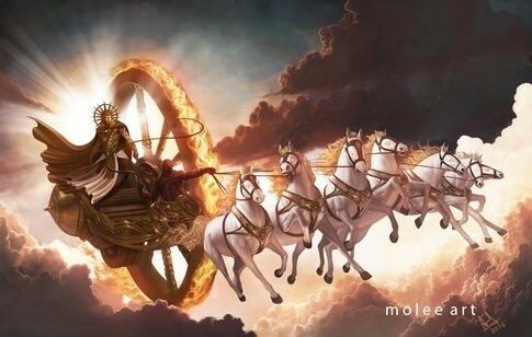 Sun god, Surya Deva and Ra