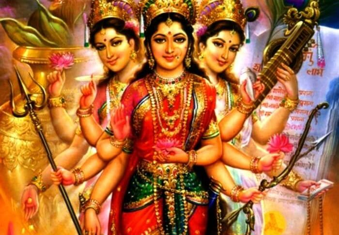 Tridevi - the three supreme Goddess in Hinduism