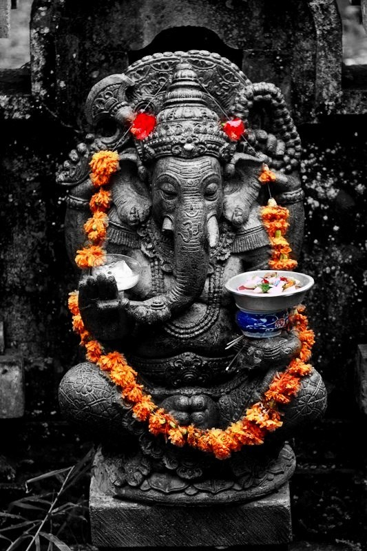 This Idol of lord Ganesh signifies Purushartha
