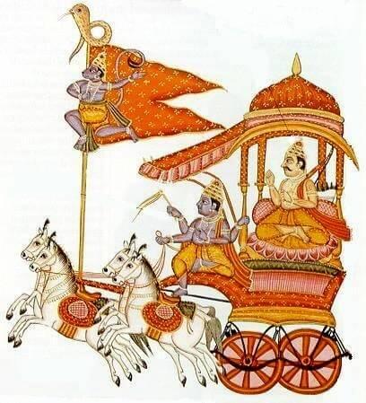 Hanuman on flag of Arjuna's Chariot