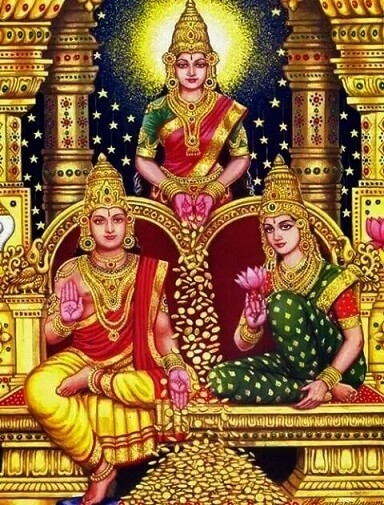 worshiping Lakshmi and Kuber together