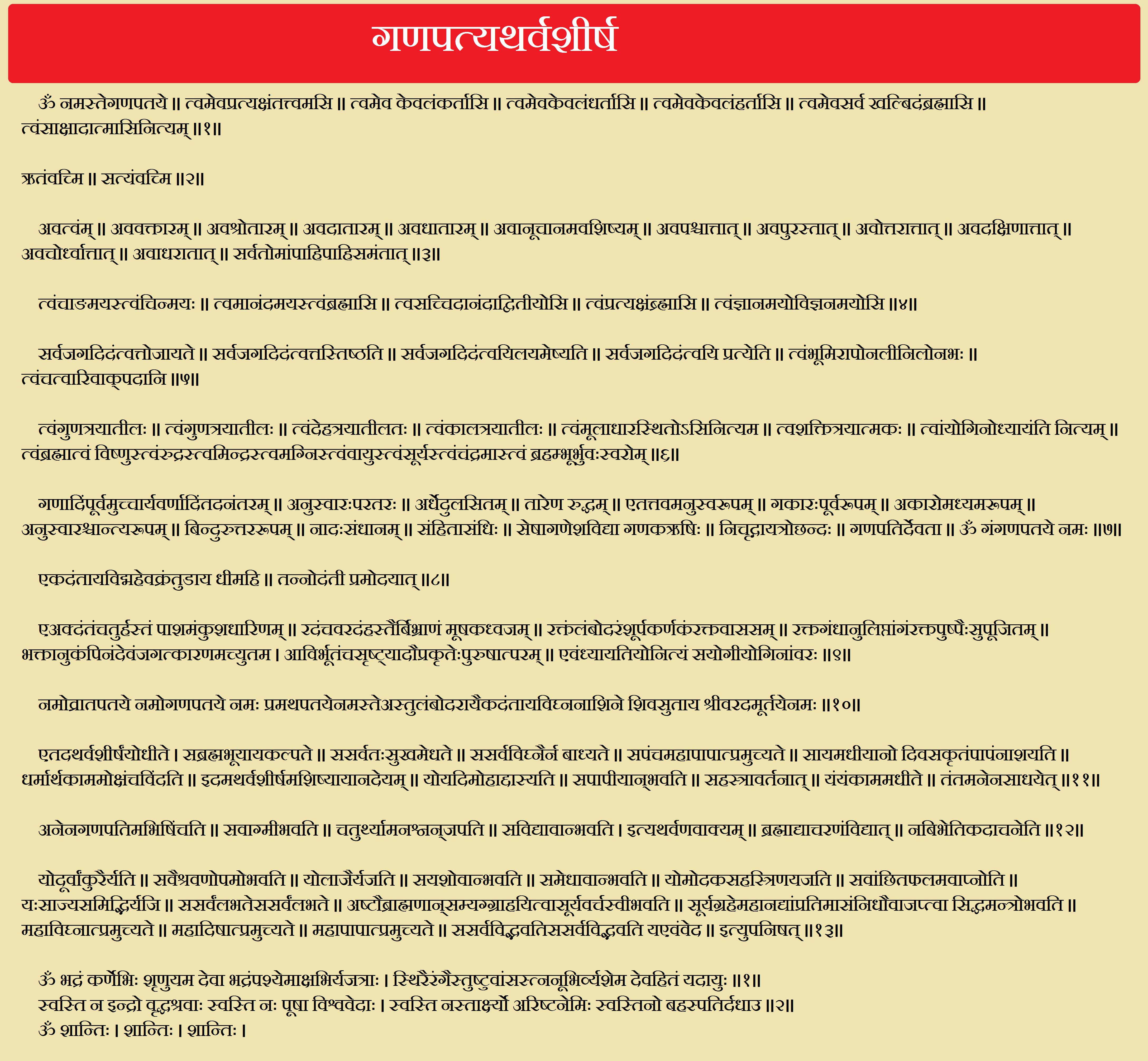 Ganapati Atharvashirsha | HinduFaqs